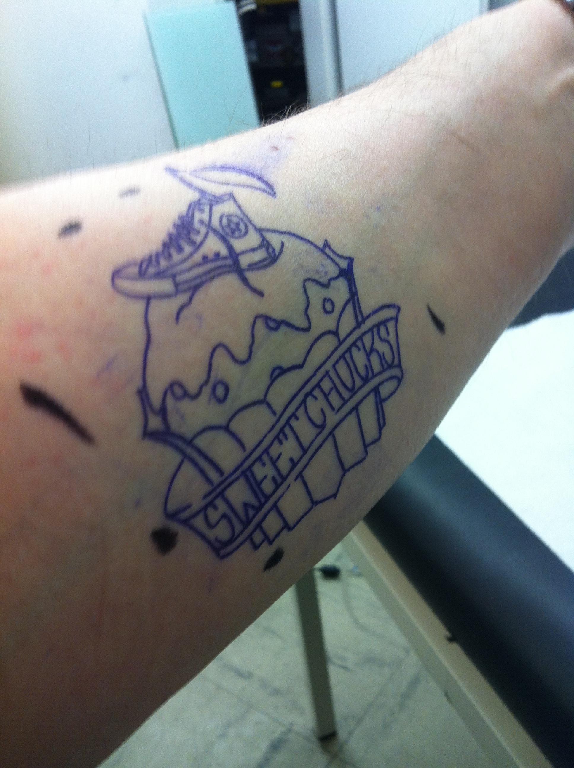 Entzückend Tattoo Folie Entfernen Sammlung Von Von übertragen